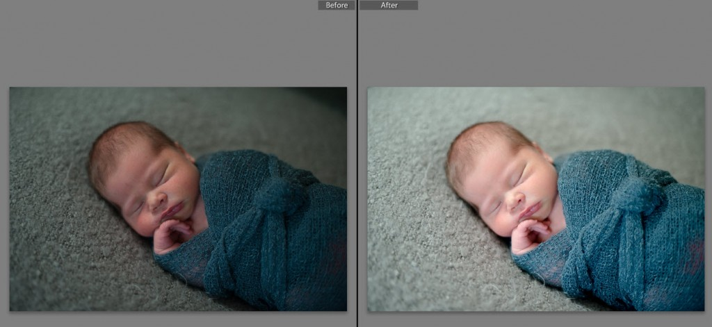 How to retouch Newborn Photos in Lightroom