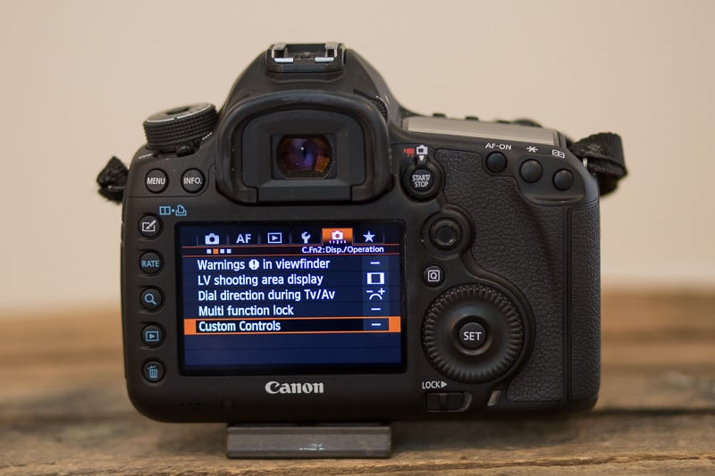 how to set back button focus canon mark iii