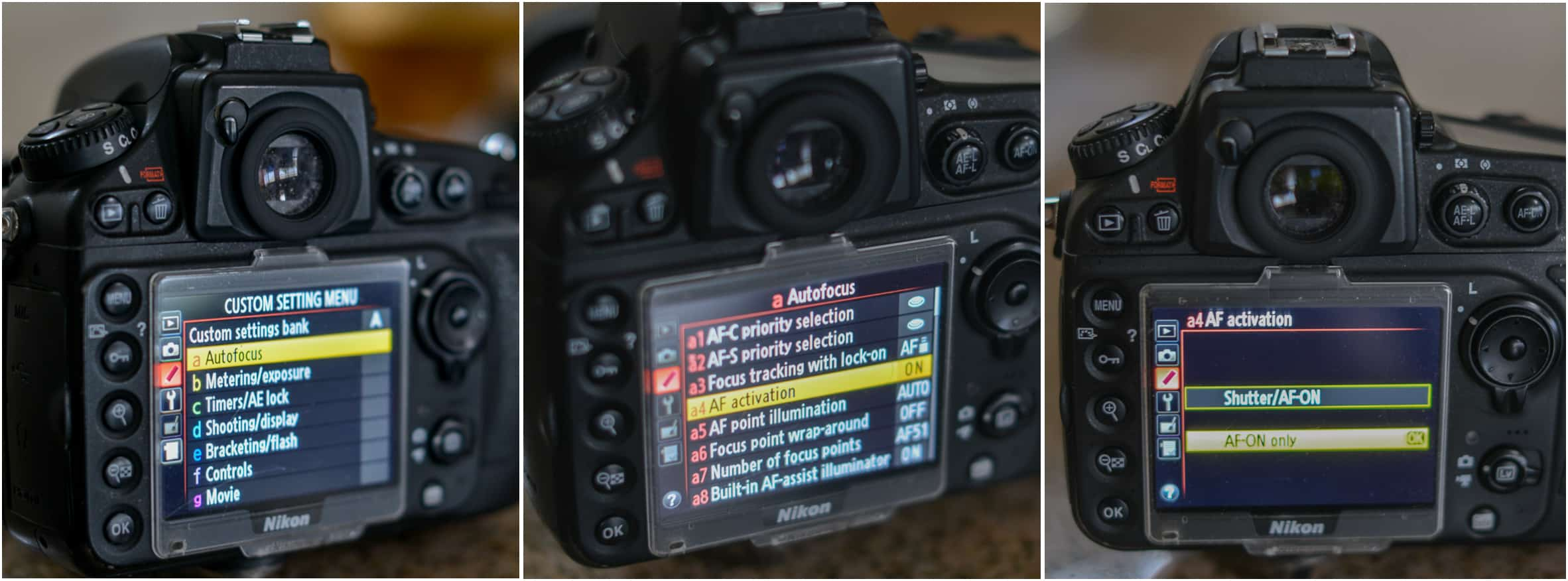 How to Set Back Button Focus Nikon