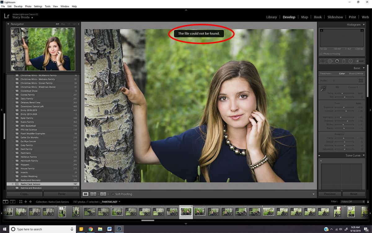 Finding and Relinking Missing Lightroom Photos: Crisis Averted