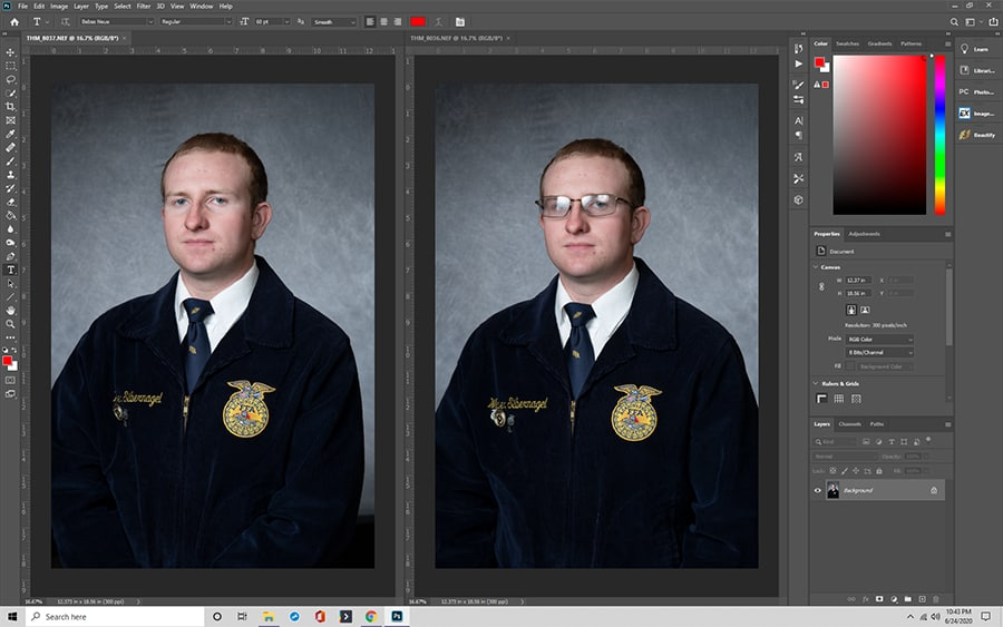 Merging Images in Photoshop
