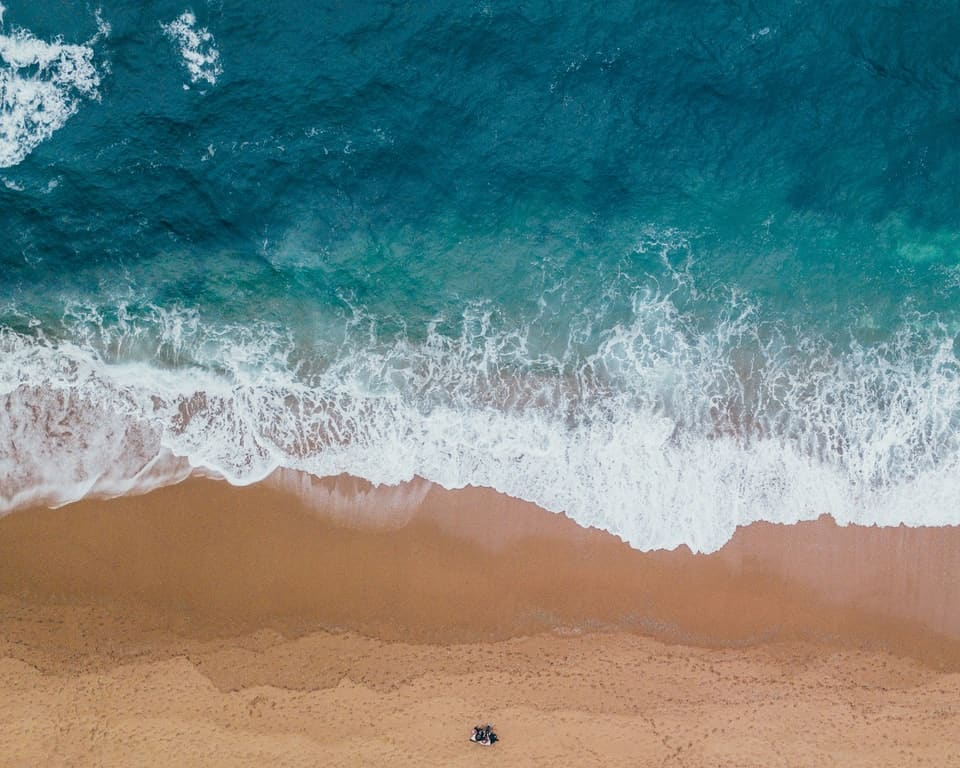aerial perspective of beach